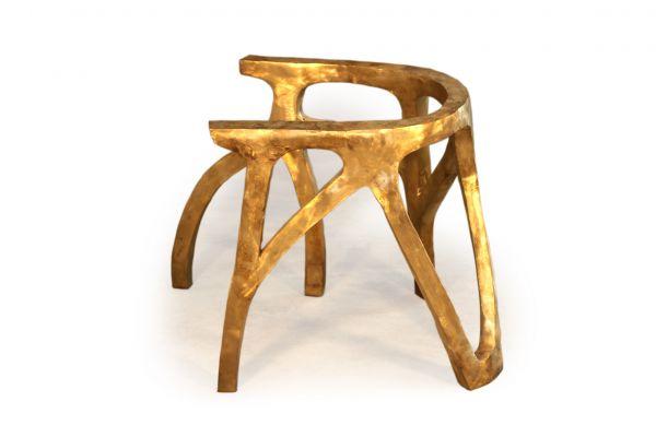 Tischbeine aus Bronze (2er Set) - Twin Coral - front view1