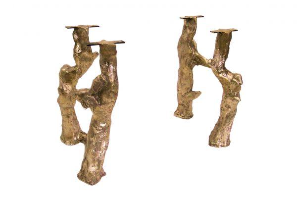 Tischbein aus Bronze - Seaweed - (2er Set) - front view1