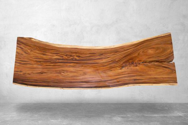 Baumstamm Tischplatte Altartisch - Länge 301 cm - front view1