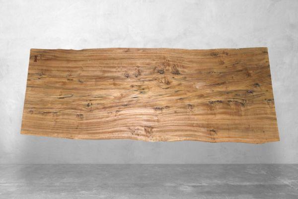 Baumstamm Tischplatte  aus Tamarindenholz - Länge 297 cm - front view1