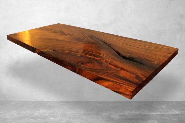 Baumstammtisch aus Suarholz - ca. 260 cm lang - front view1