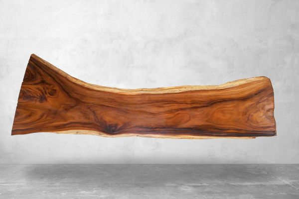 Baumstammtisch Live-Edge - Länge 304 cm - front view1