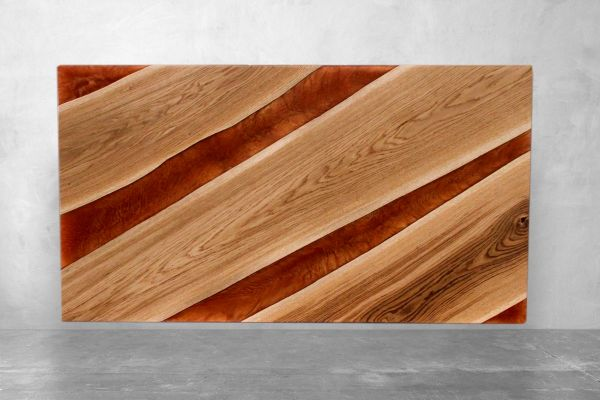 Couchtischplatte aus Eiche - Hodur- Laenge 110 cm - front view1