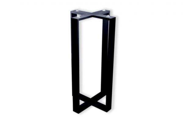 Rohstahl Tischuntergestell in Kreuzform - Beistelltische - nach Maß -SNK10 - (40x10mm) - side view