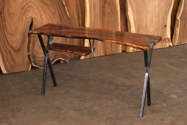 River Table Stehtisch - Cinder - front view1