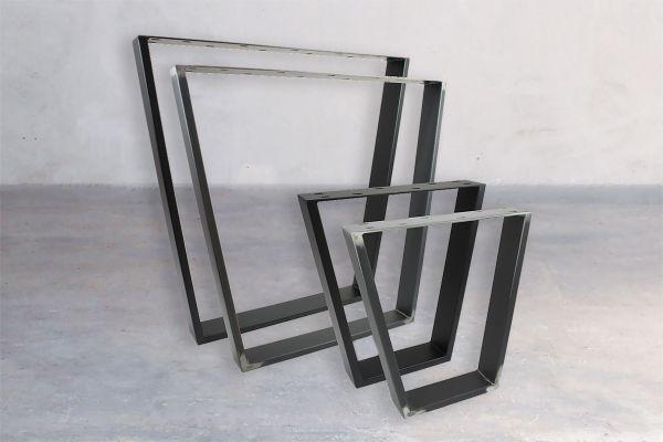 Rohstahl Tischuntergestell - Square (2er Set) - front view1