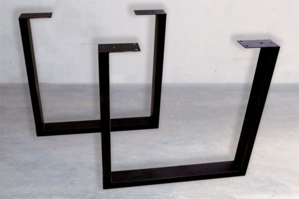 Rohstahl Tischuntergestell - U-Kufen - Gap - front view1