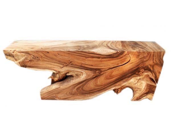 Schwerer Konsolen-tisch aus einem Stück Suarholz - side view