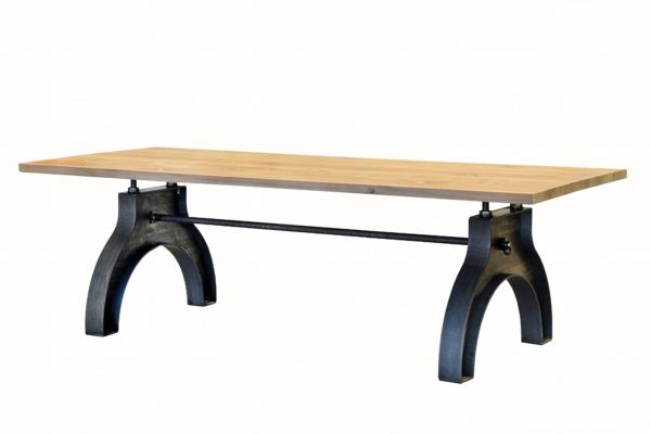 Tischgestell in Industriedesign aus Stahl - SOW 002 - front view