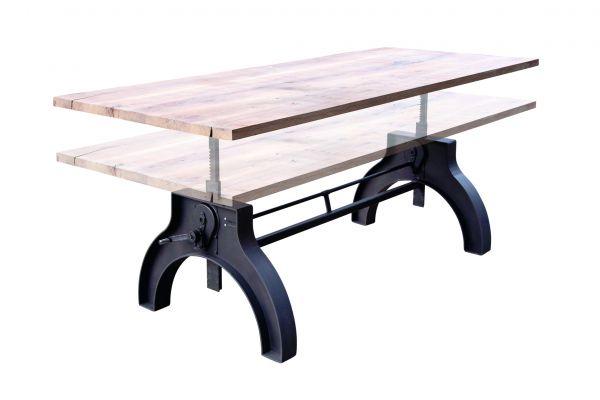 Tischgestell in Industriedesign aus Stahl - SOW11 - höhenverstellbar  front view