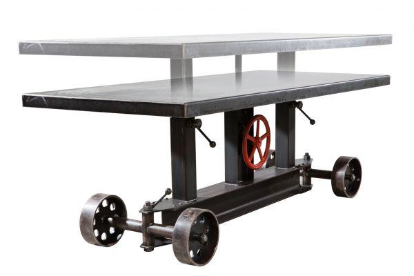 Tischgestell in Industriedesign aus Stahl - SOW15 - höhenverstellbar - front view