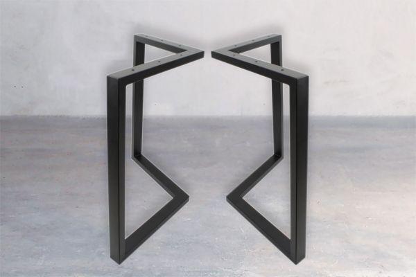 Rohstahl Tischuntergestell - Axis (2er Set) - front view1