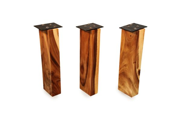 Tischbein aus Edel-Suarholz Stückpreis 18 cm breit 2er Set - front view1