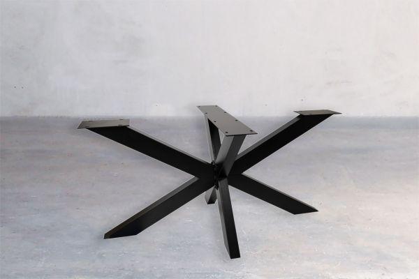 Tischuntergestell Rohstahl - Black Widow - front view1