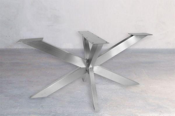 Tischuntergestell Edelstahl - Black Widow - front view1
