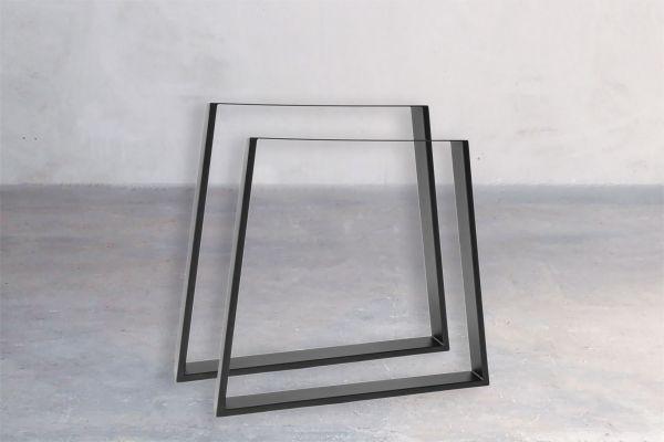 Rohstahl Tischuntergestell - Trapezoid - front view1
