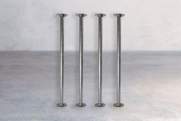Stahl-Tischuntergestell - Steel Pipe - front view1