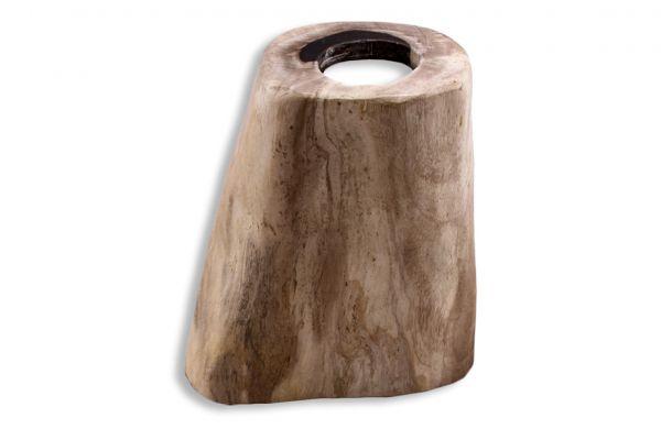 Teelicht aus versteinertem Holz TL-26296-1 - front view