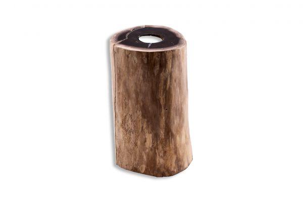 Teelicht aus versteinertem Holz TL-26296-2 - front view