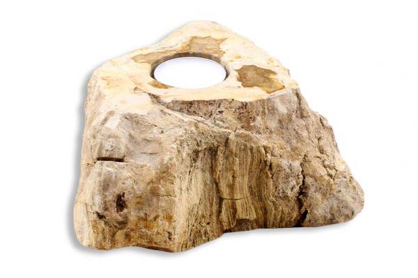 Teelicht aus versteinertem Holz TL-27737-3 - front view