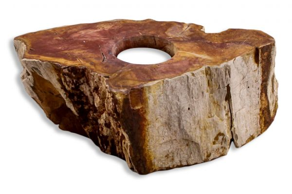 Teelicht aus versteinertem Holz TL-27740-2 - front view