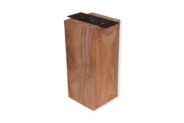 Massivholz Tischbeine in quadratischer Form mit einem Profil von 30 cm - profile view