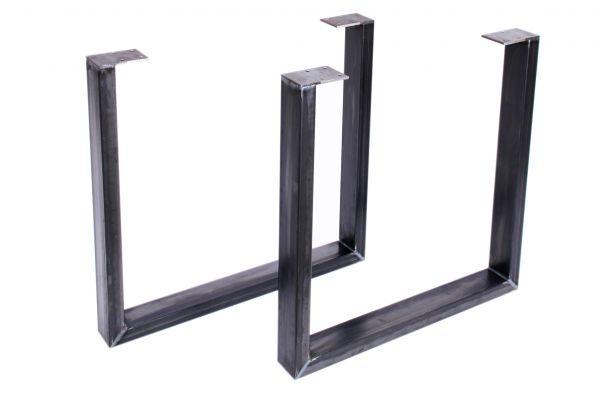 """Tischbeine Tischuntergestell - """"U"""" Kufen - Industrie Design - 2er Set - Stahl"""