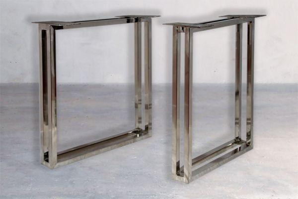 Tischbeine Doppelrahmen -U-Kufen-Hochglanz - front view1