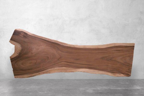 Tischplatte Baumstamm XXL mit natürliche Wildkante - The Claw - Länge 400 cm - front view1