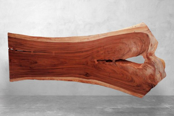 Tischplatte Baumstamm mit außergewöhnlicher Naturkante - Länge: 315 cm - front view1