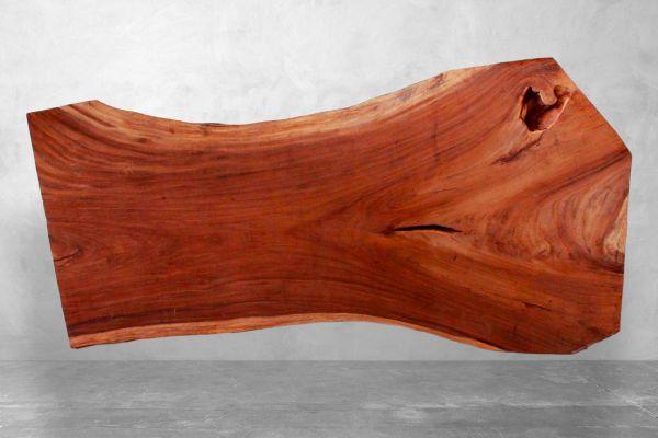 Tischplatte Baumstamm mit Naturkante - Nemo - Länge: 269 cm - front view2