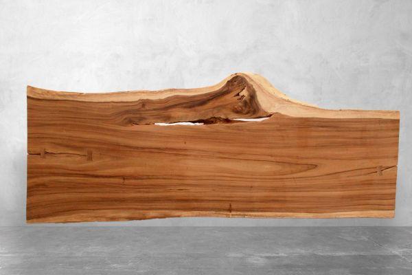 Tischplatte Baumstamm mit Naturmaserung - Nautilus - Länge: 301 cm - front view1