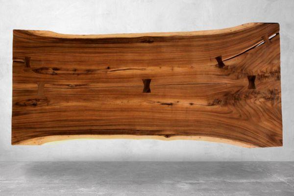 Tischplatten - Suarholz Baumstamm mit Naturkante - Länge 200 cm - front view1