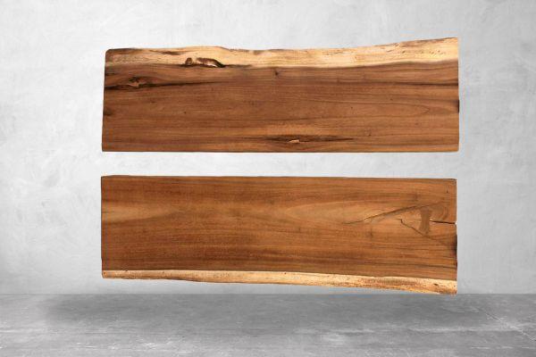 Tischplatten Baumstamm - River Table (2er Set) - front view1
