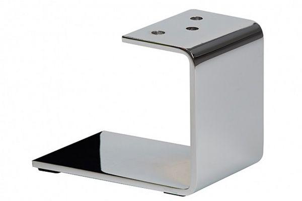 Tischbein - U Profil - Untergestell - Chrom - für Couchtisch oder TV Board