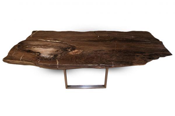 Versteinertes Holz Tisch - Muriwai - Länge 160 cm - side view1